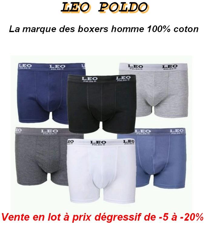 boxer homme coton- leo poldo la marque des boxers homme 100% coton